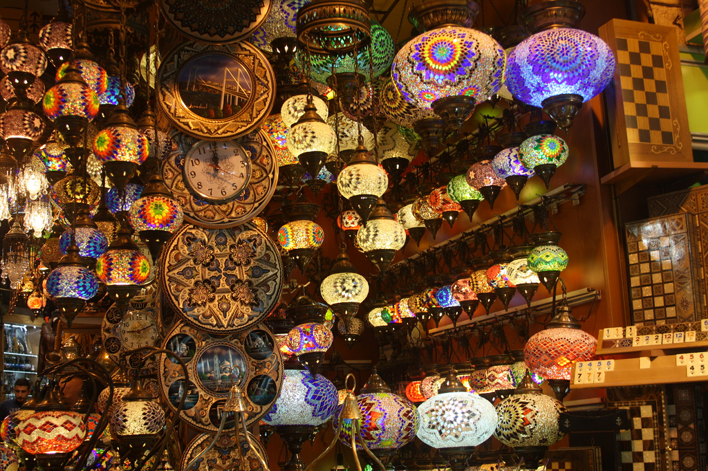 Lights at the Grand Bazaar in Istanbul