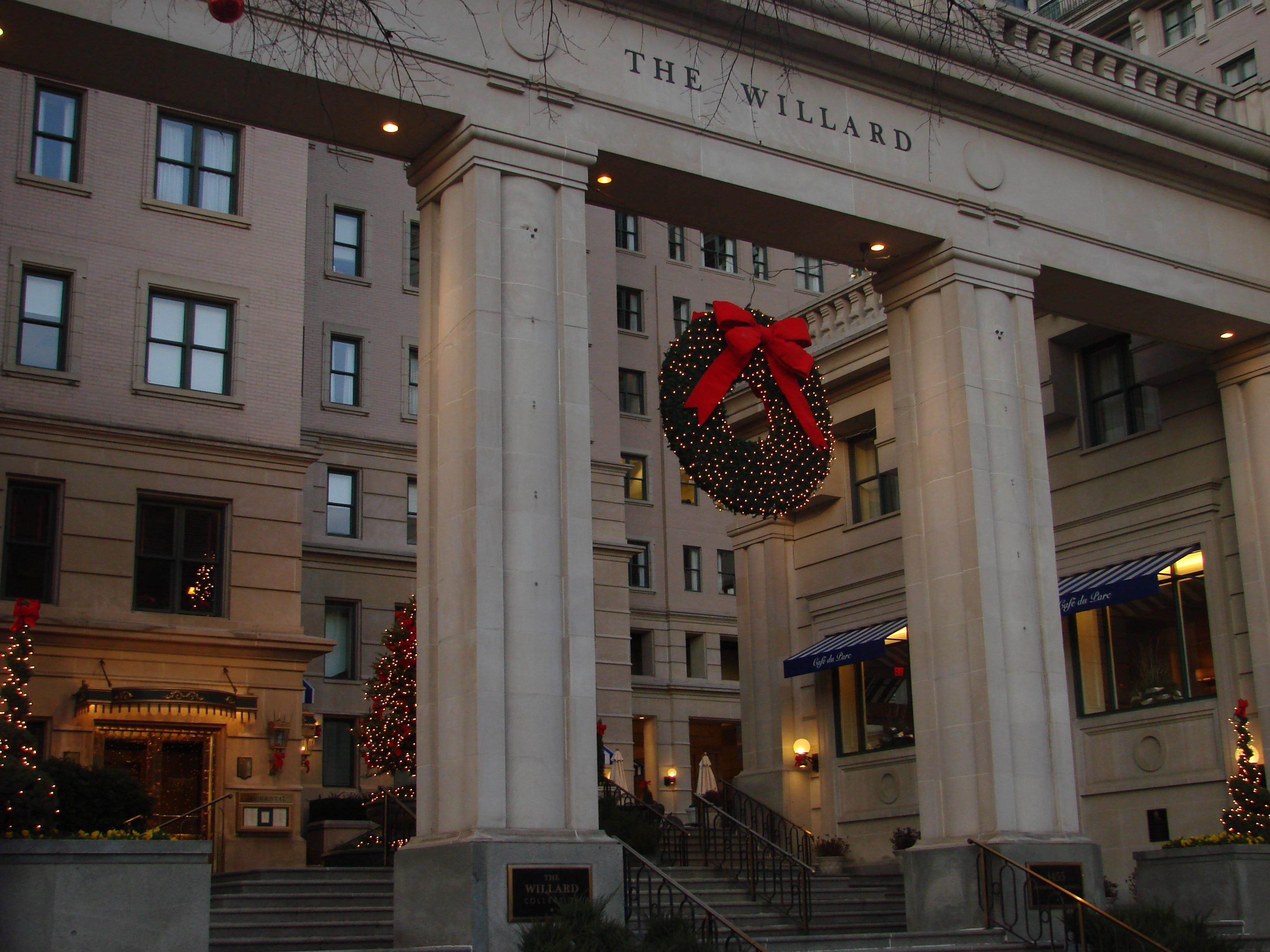 The Willard Hotel in DC at Christmas